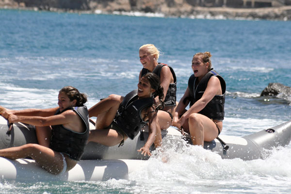 Cover for banana boat in Gran Canaria