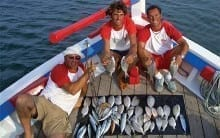 family fishing from Lagos