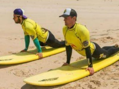 Surf lessons in the Algarve with Algarve Surf School in Portugal