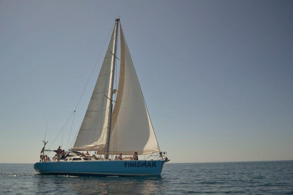 Sailing from Albufeira