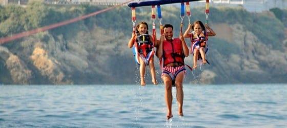 parasailing albufeira children