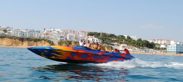 Albufeira things to do: ocean Rocket boat trip