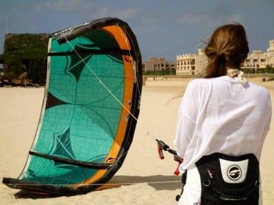 Kitesurf beginner lessons Boa Vista Cabo Verde