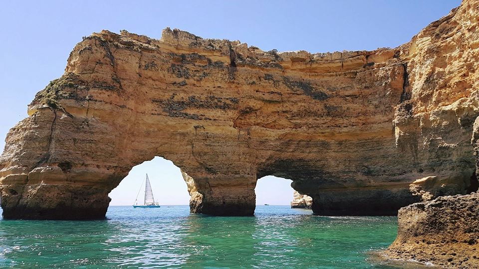 The famous rock formations of Marinha