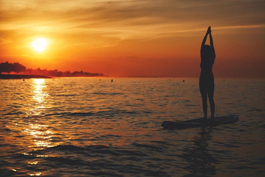 Paddle Board Yoga In Portugal Sup Yoga