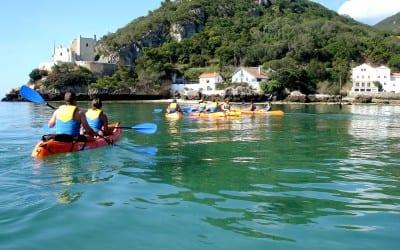 Coastal canoeing Sesimbra