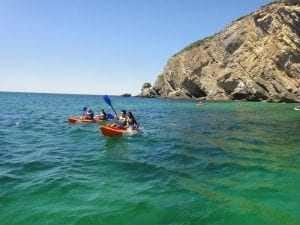 canoeing in Sesimbra