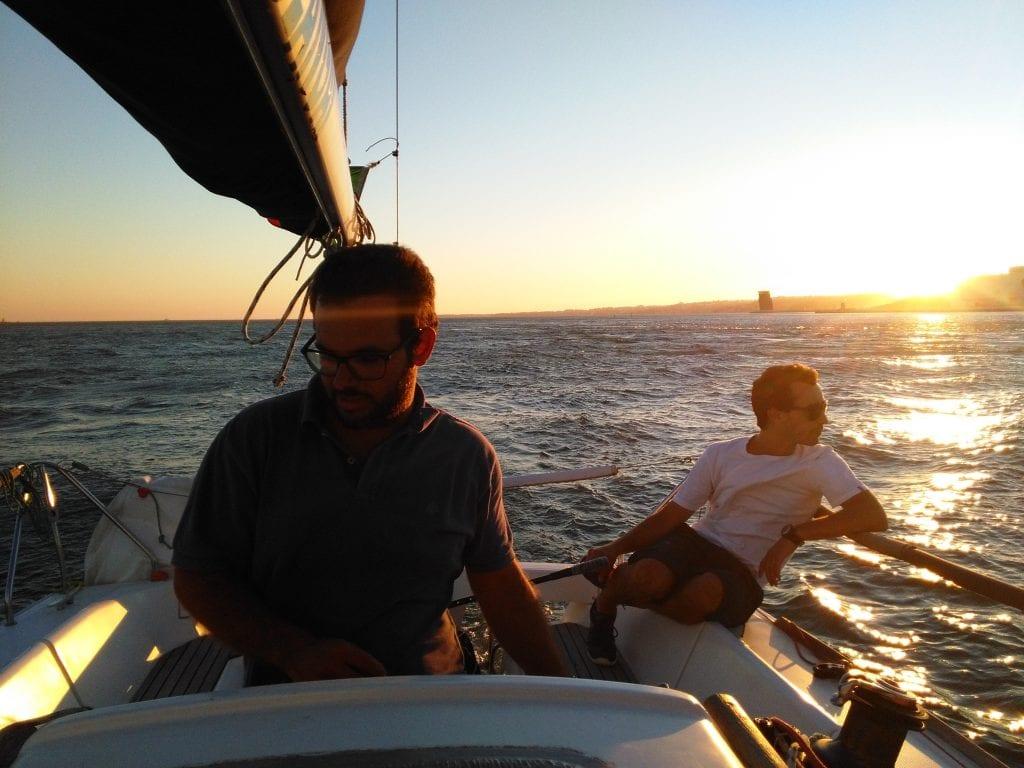 Os skippers: Gonçalo e Filipe