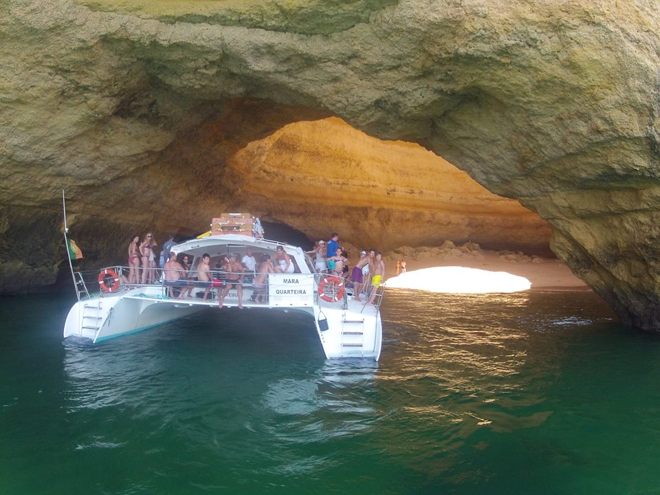 BBQ cruise in Albufeira on a motor catamaran