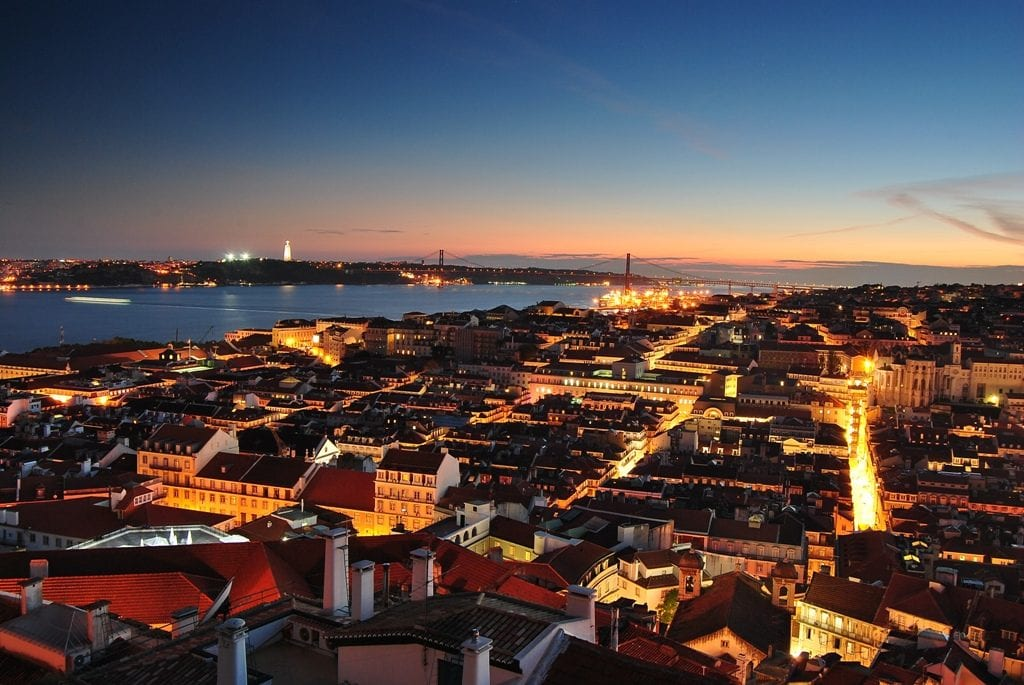 Lisbon's colors by night
