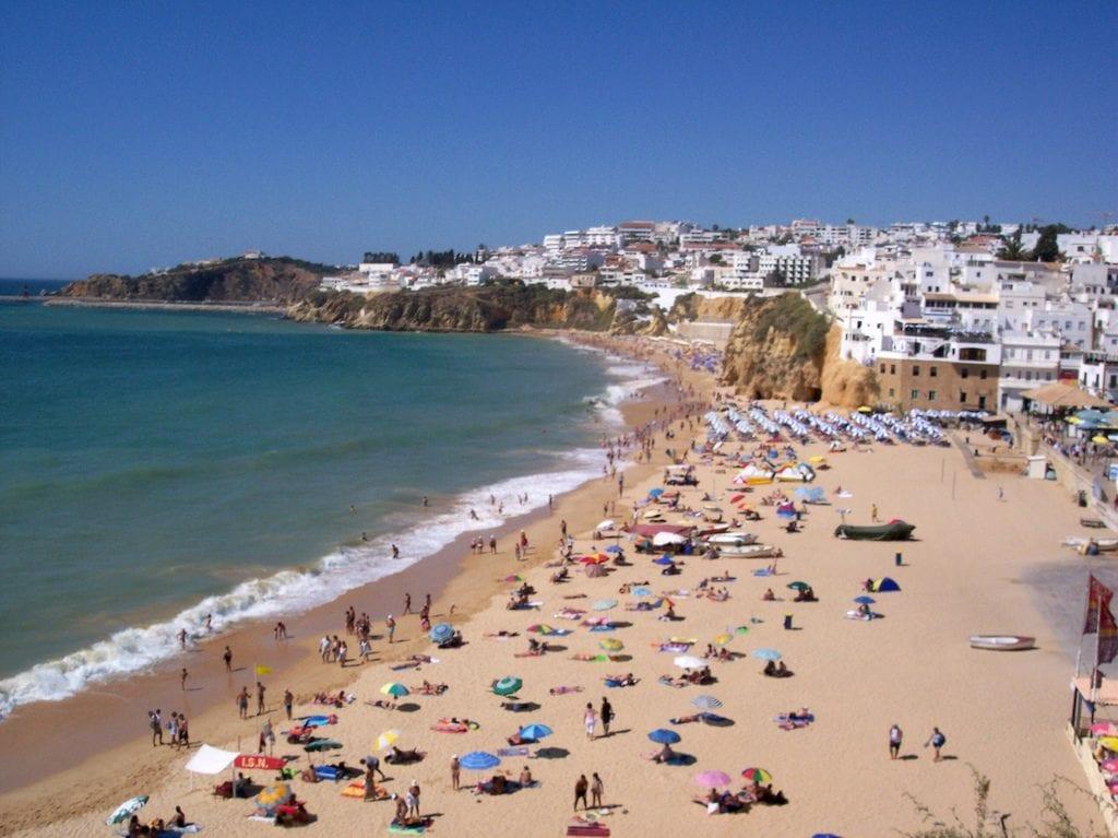 Albufeira's beach