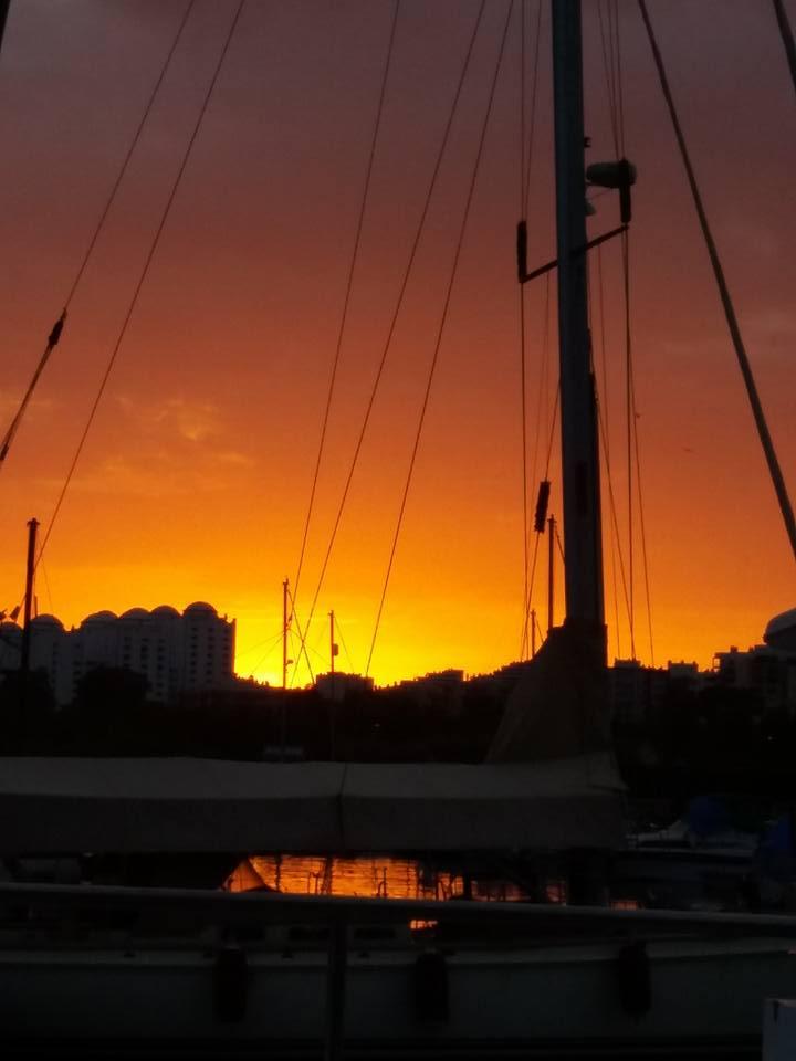 The sunset is stunning!