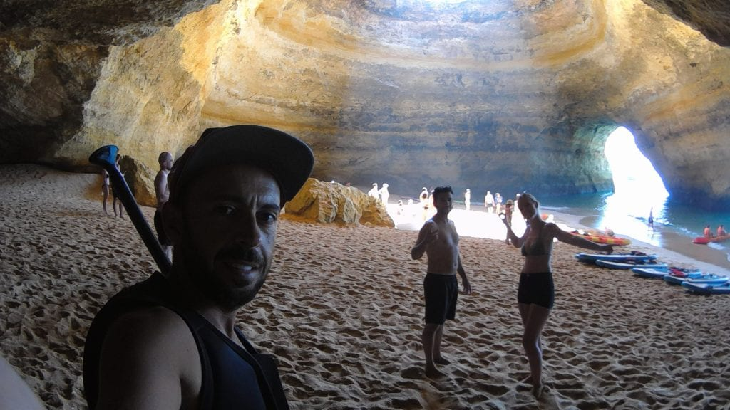 On a SUP tour you can explore the inside of the cave