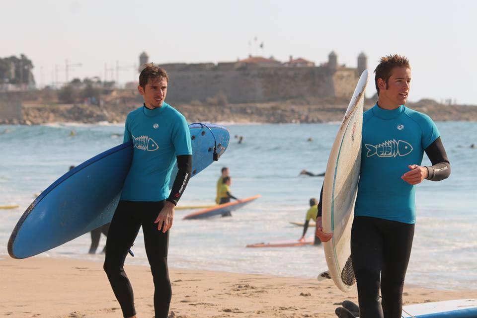 Aula de surf em Matosinhos