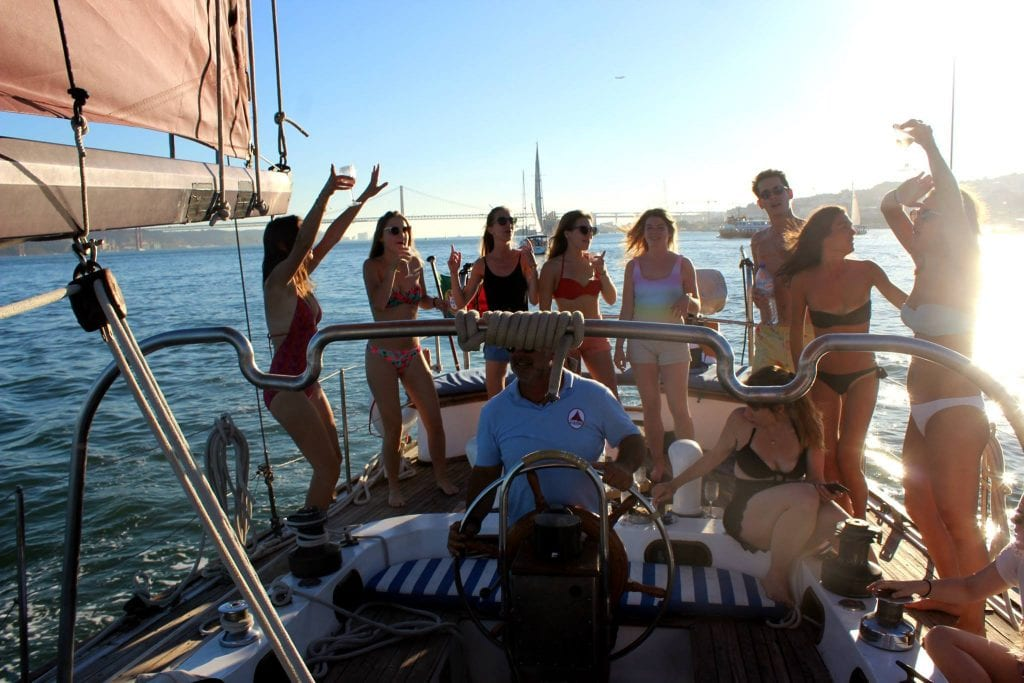 Private boat party in Lisbon