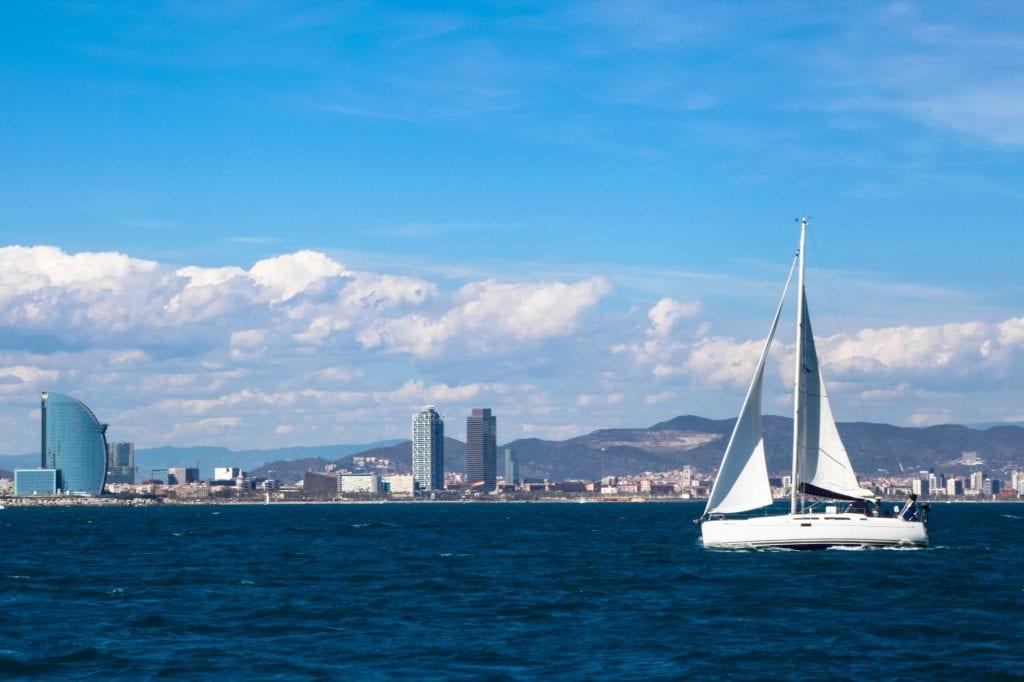 sailing in Barcelona