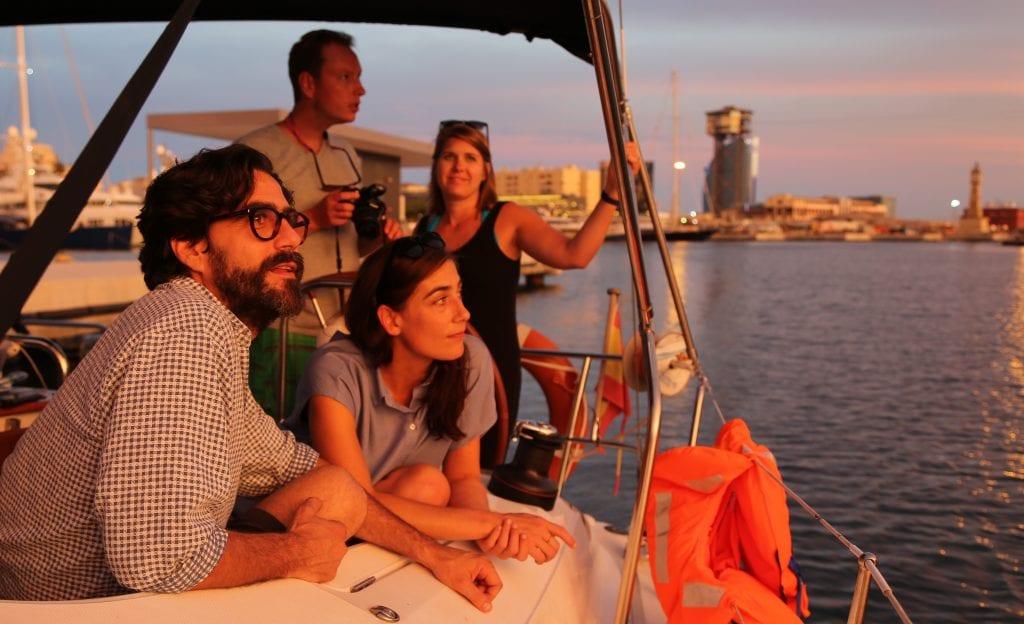 sunset Sailing tour in Barcelona