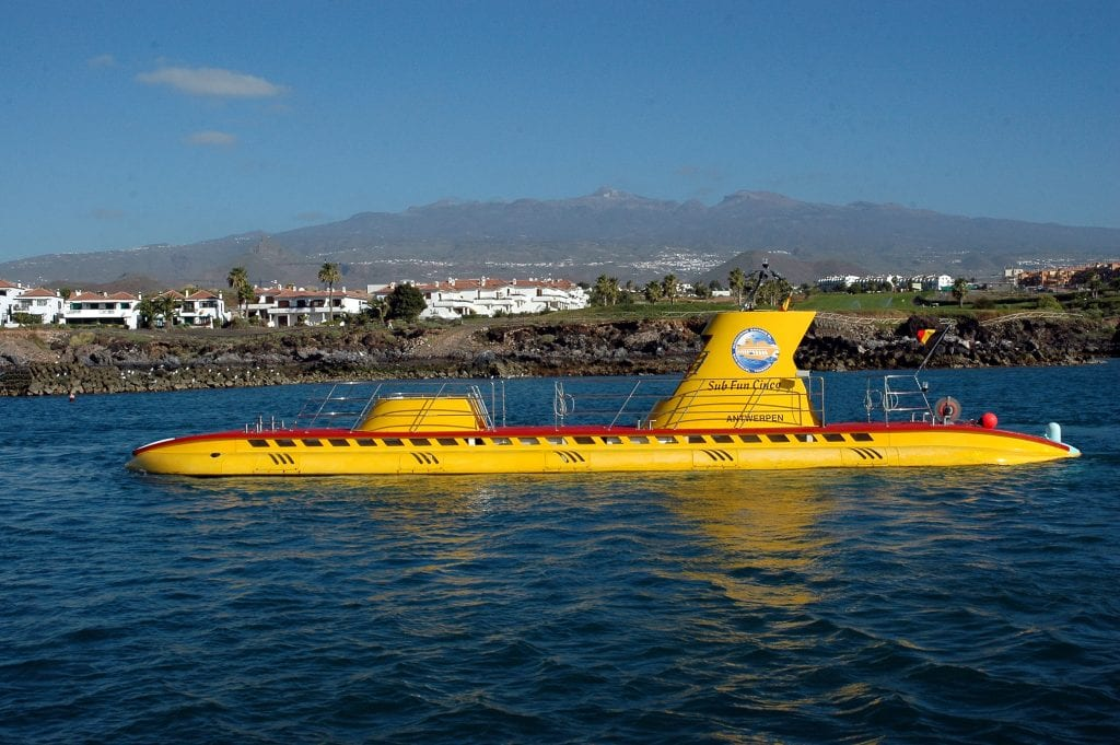 submarino em Tenerife