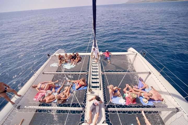 Enjoy some sone on our comfortable catamaran