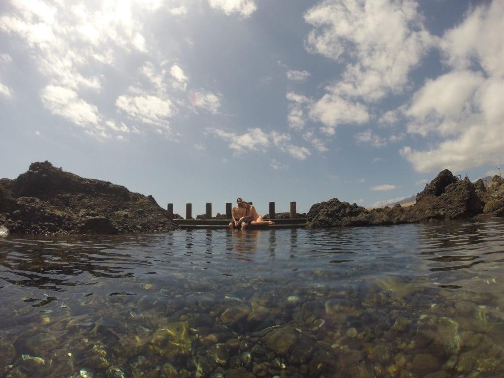 Natural warm swimming pools!