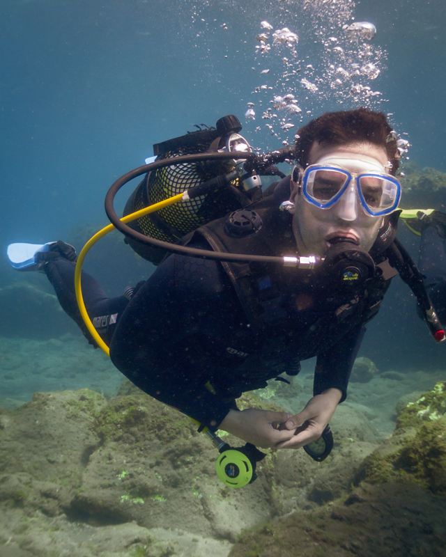 Breathing underwater is a crazy experience!