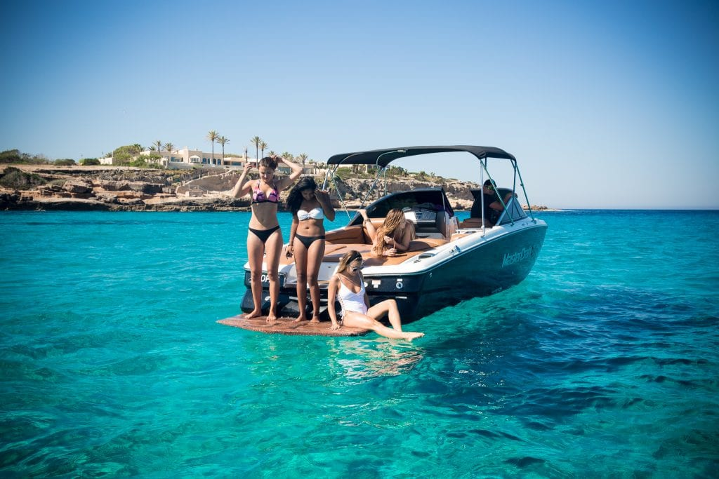 One of the best activities in Ibiza? Inviting your friends on your private boat!