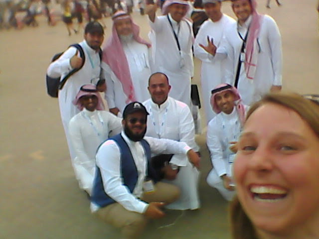 I even took a picture with some business men at the fair!